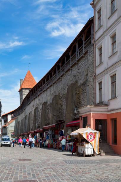 Walls of Tallinn stock photo