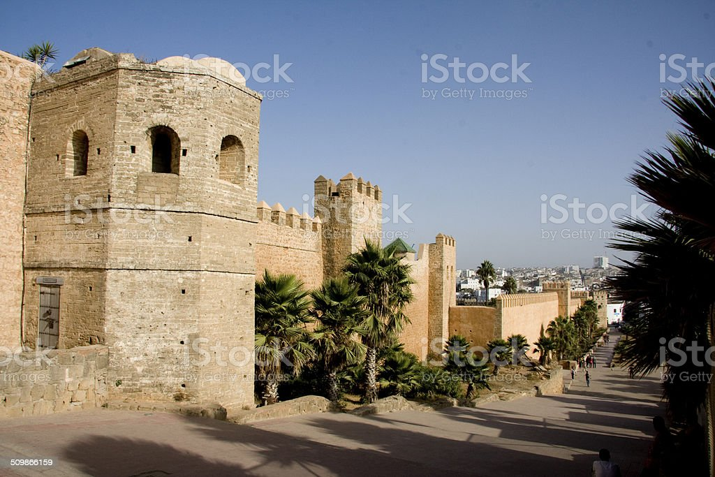Walls of the Kasbah of the Udayas, Rabat stock photo