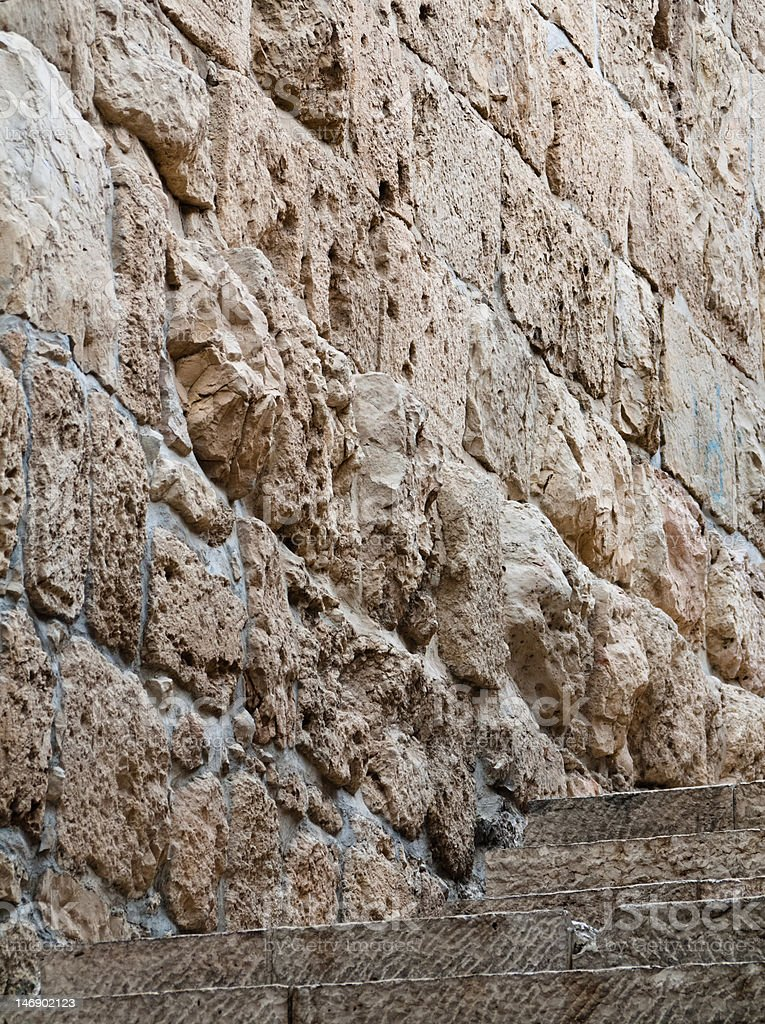 Walls of the old city in Jerusalem Israel royalty-free stock photo