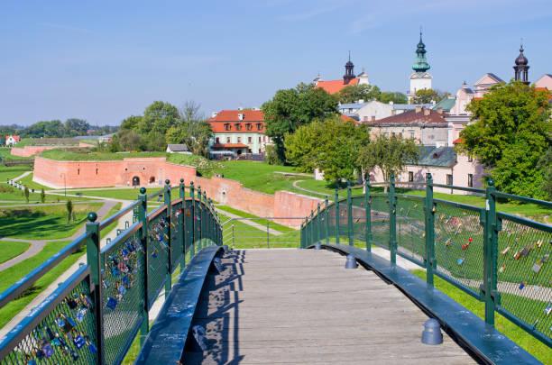 Walls of Zamosc, Poland stock photo