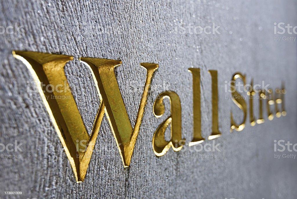 Wallstreet, New York royalty-free stock photo