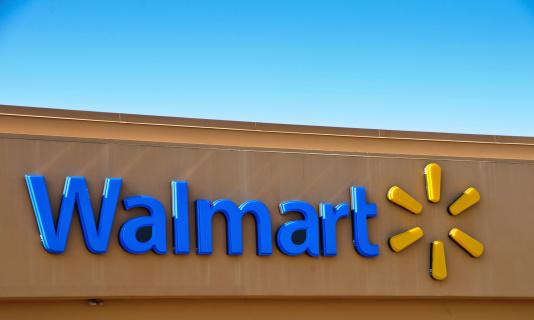 Walmart Corporate Logo Stock Photo - Download Image Now