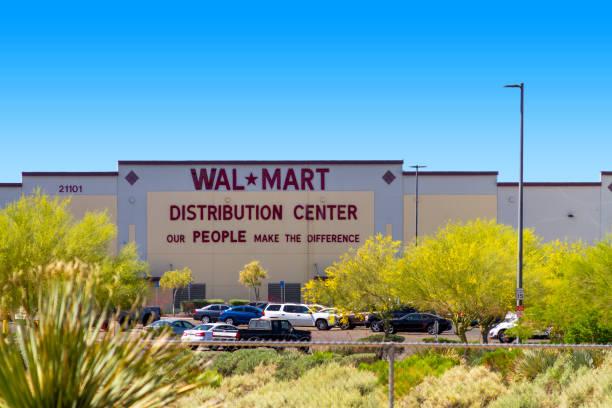 Walmart Distribution Center in Apple Valley, California stock photo