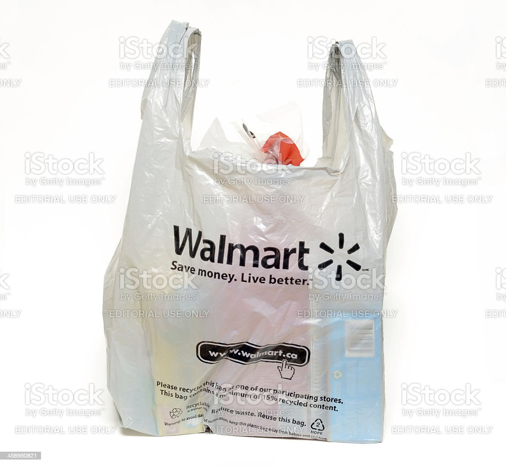 5486e9e911 Walmart Groceries Stock Photo   More Pictures of Bag
