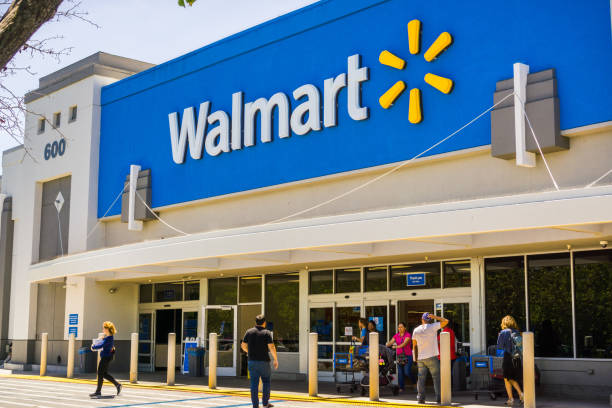 вход в магазин walmart - walmart стоковые фото и изображения