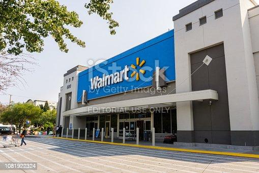 istock Walmart store entrance 1081922324