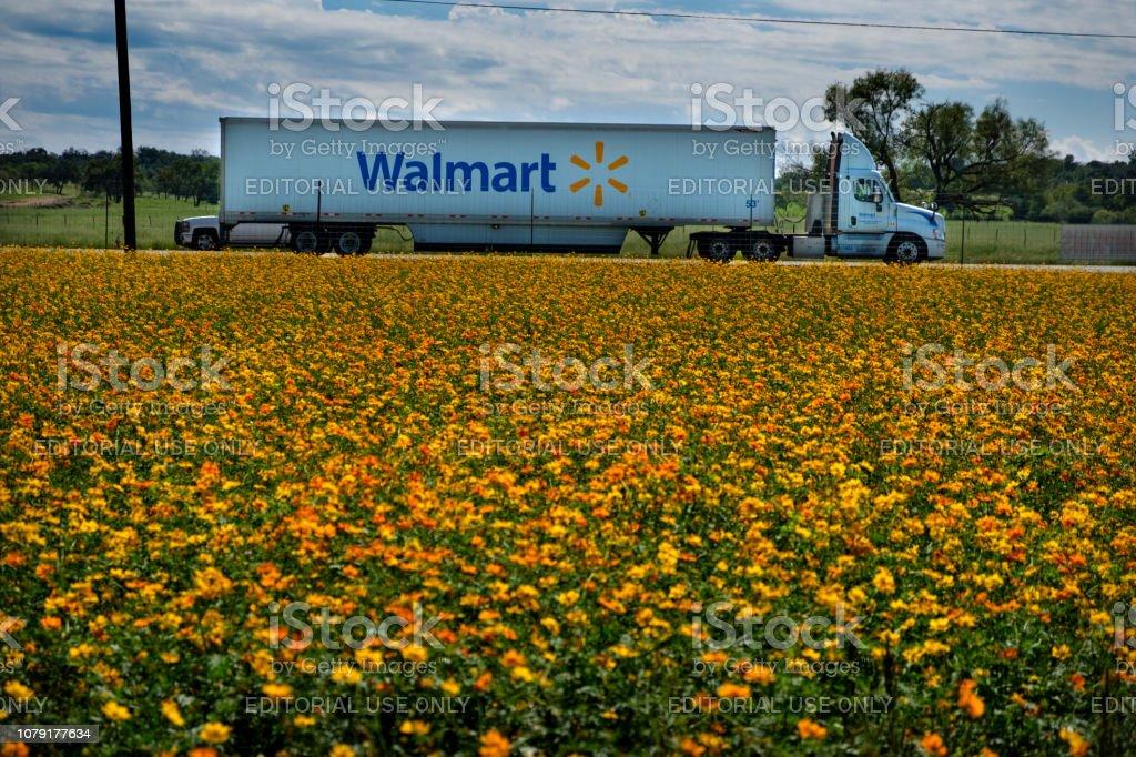 Walmart Truck stock photo
