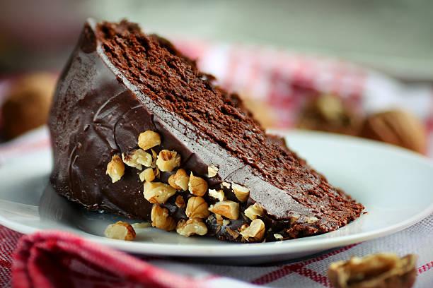 Walnut cake stock photo