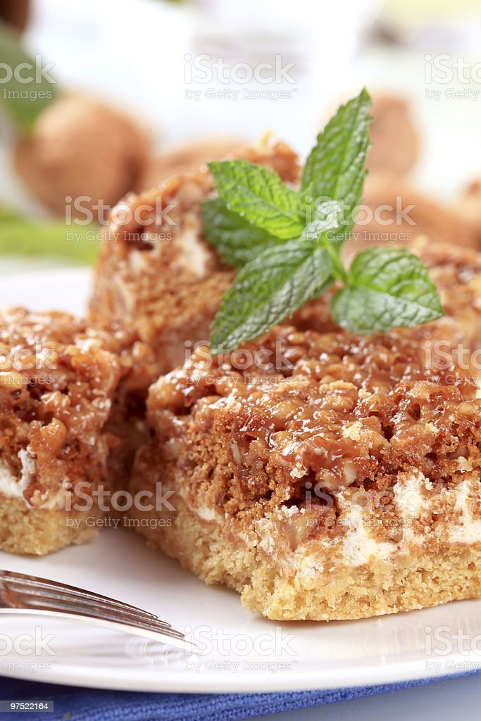 Walnut cake royalty-free stock photo
