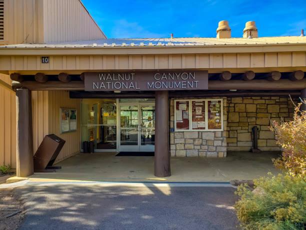 Walnut Canyon National Monument in Flagstaff Arizona stock photo