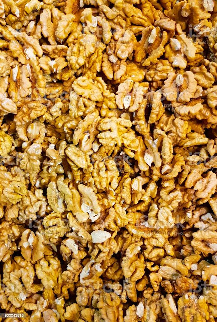 walnut cleared background stock photo