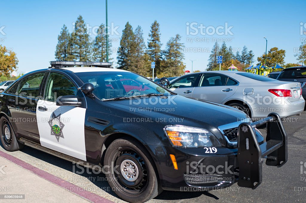 Walnut Creek Police Car stock photo