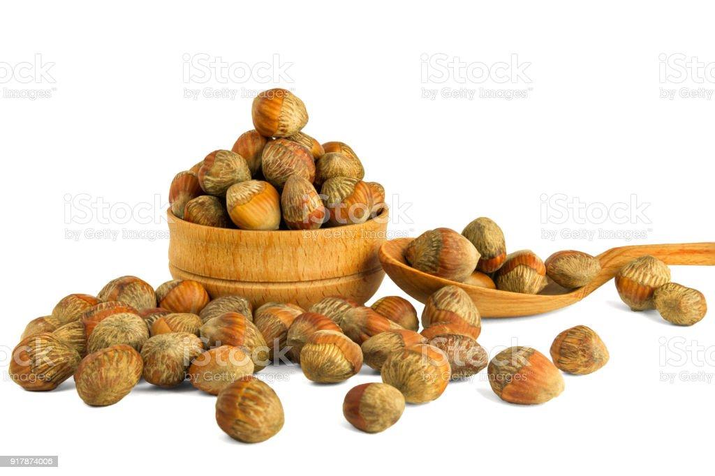 Walnut Hazelnut Isolate On A White Background Nuts Hazel Of A