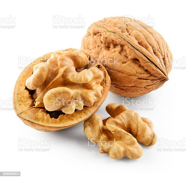 Walnut isolated on white background. With clipping path.