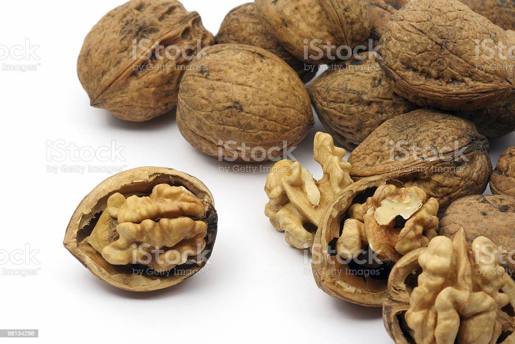 Walnut shell royalty-free stock photo