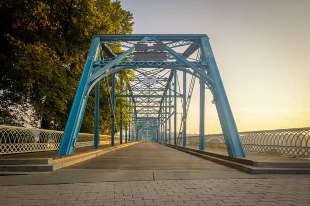 Walnut Street walking bridge, Chattanooga, TN Walnut Street walking bridge, Chattanooga, TN.  Built in 1890 this iron and wood bridge has been converted to pedestrian and bicycle traffic only chattanooga stock pictures, royalty-free photos & images