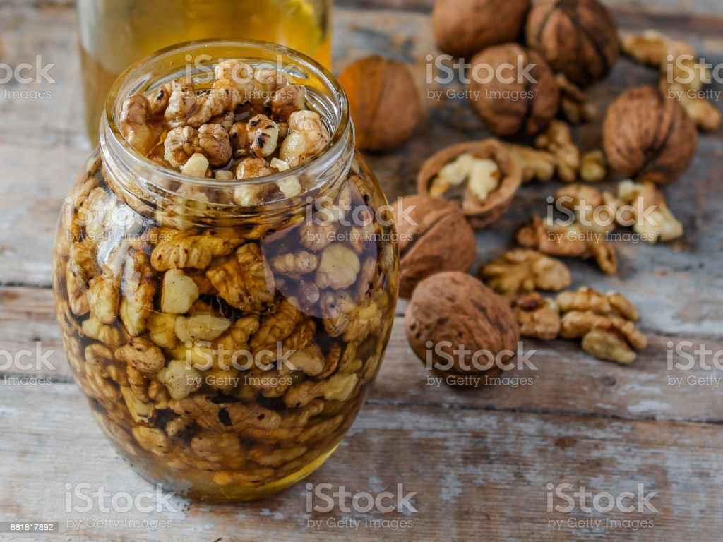 walnuts - delicious and healthy treat (background) stock photo