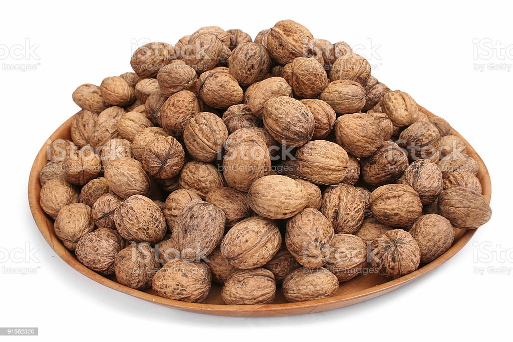 Walnuts in isolated white royalty-free stock photo