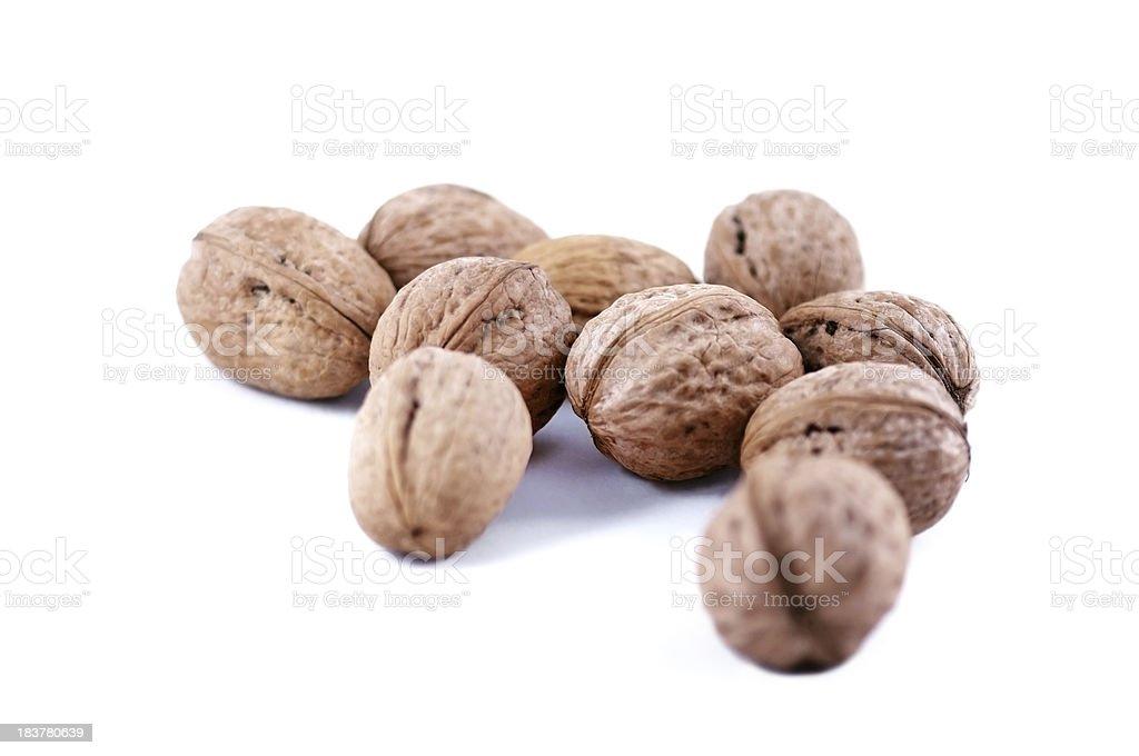 walnuts in shell stock photo