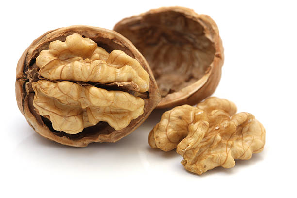 Walnuts Isolated on White Background Walnuts Isolated on White BackgroundPlease see some similar images from my portfolio : walnut stock pictures, royalty-free photos & images