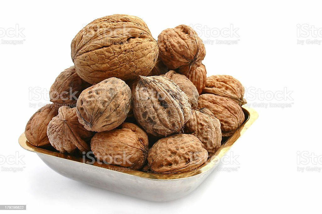 walnuts over a white background royalty-free stock photo