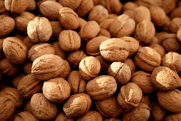 Walnuts Walnuts background walnut stock pictures, royalty-free photos & images
