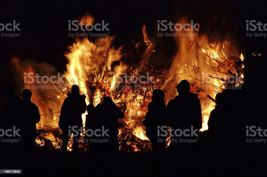 Walpurgis Night bonfire royalty-free stock photo