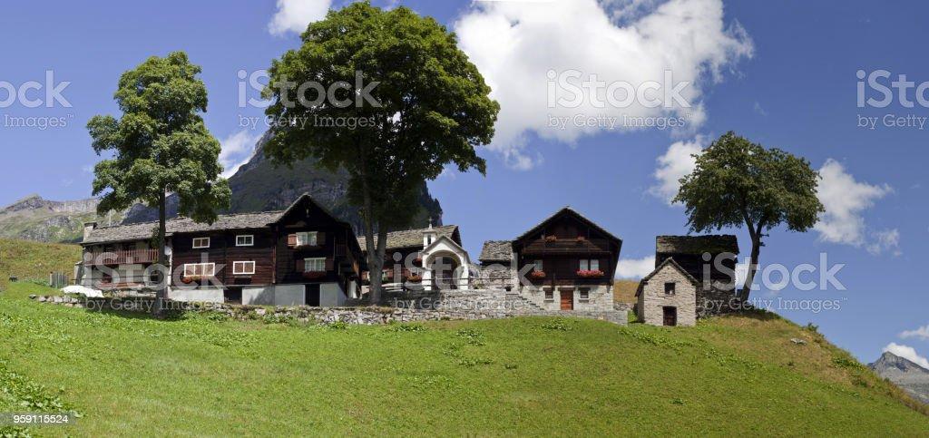 Walser houses stock photo