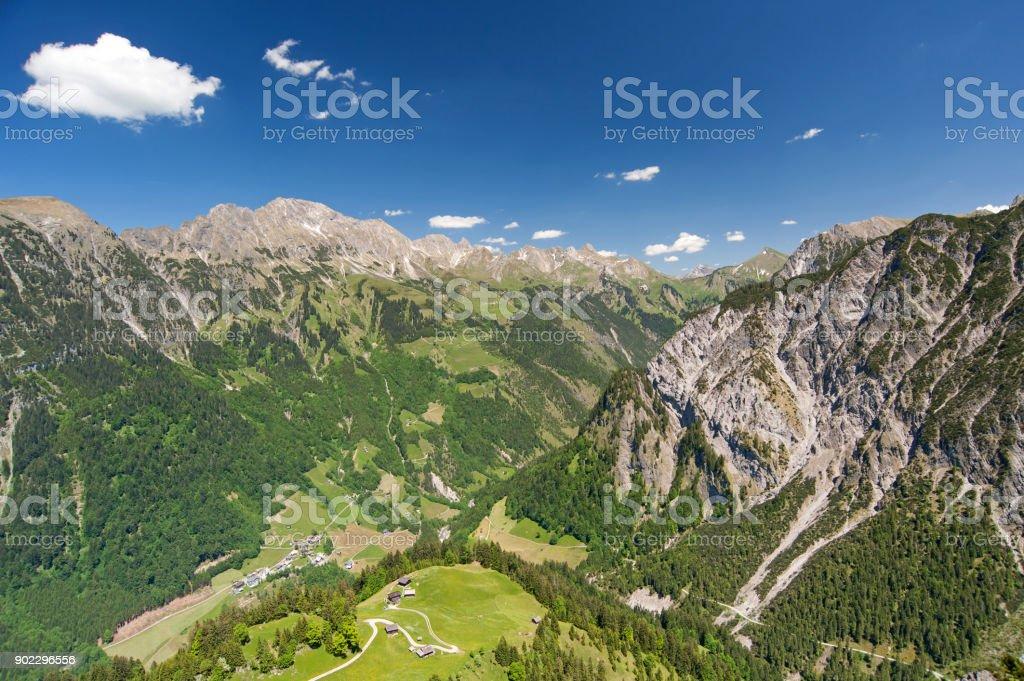 Walser Valley stock photo