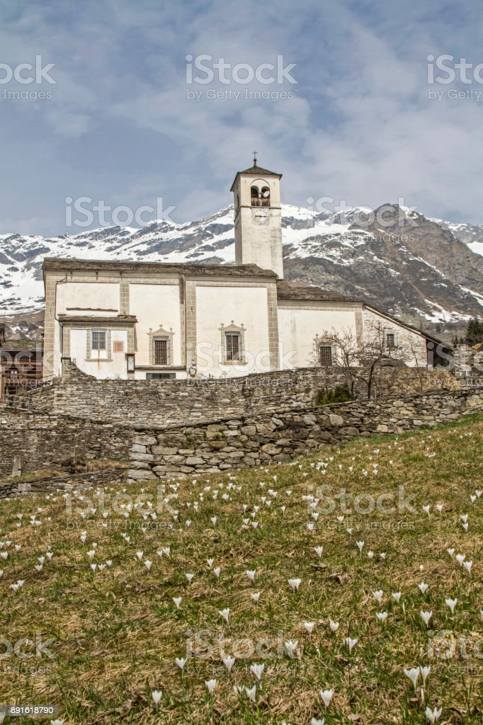 Walser village Rima stock photo