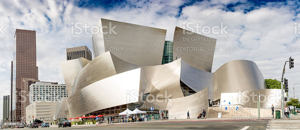Walt Disney Concert Hall from Road stock photo
