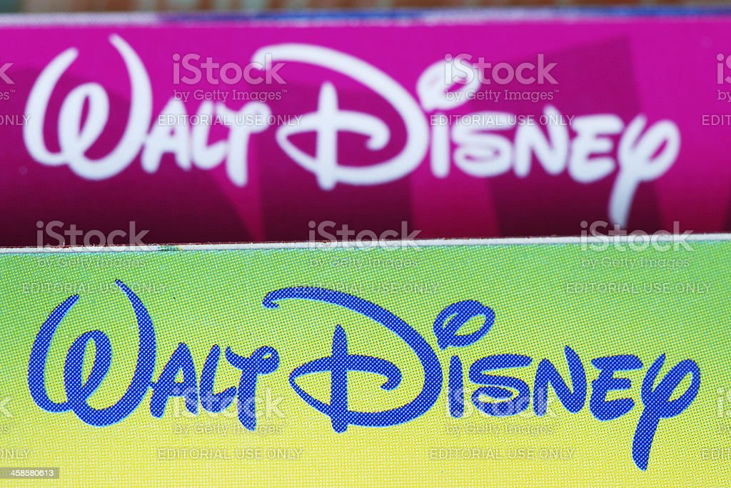 Walt Disney signature logos royalty-free stock photo