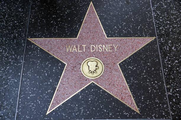Walt Disney's star on Hollywood Walk of Fame stock photo