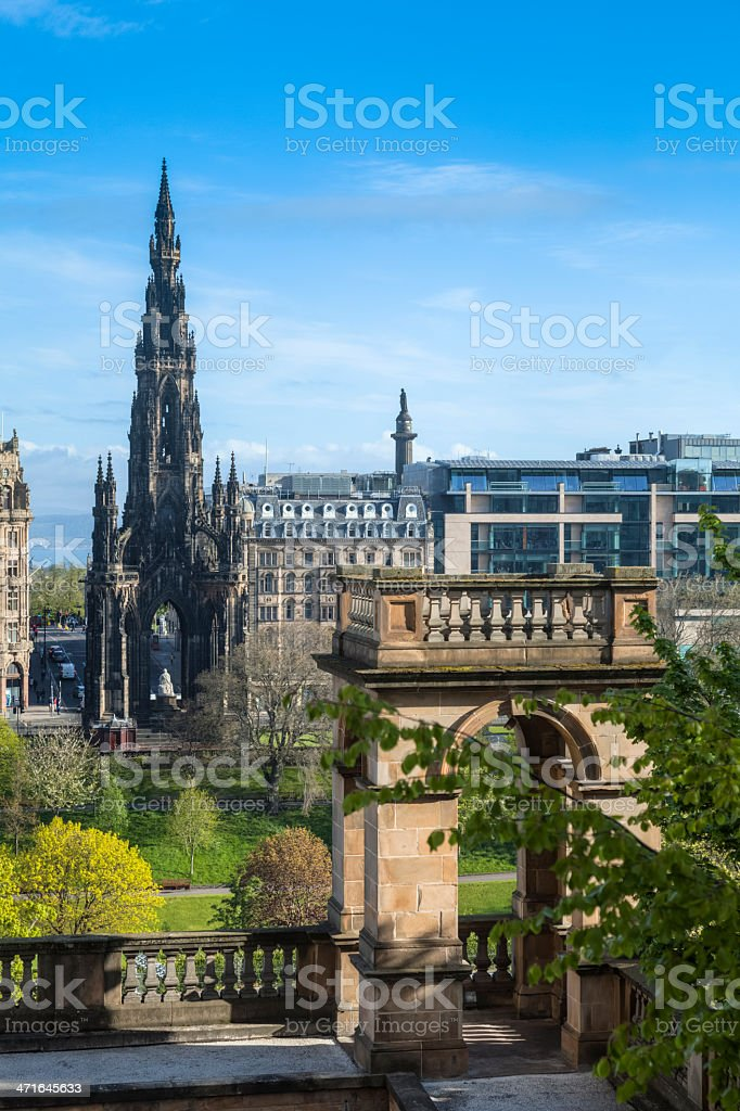 Walter C Scott Monument in Edinburgh Scotland royalty-free stock photo