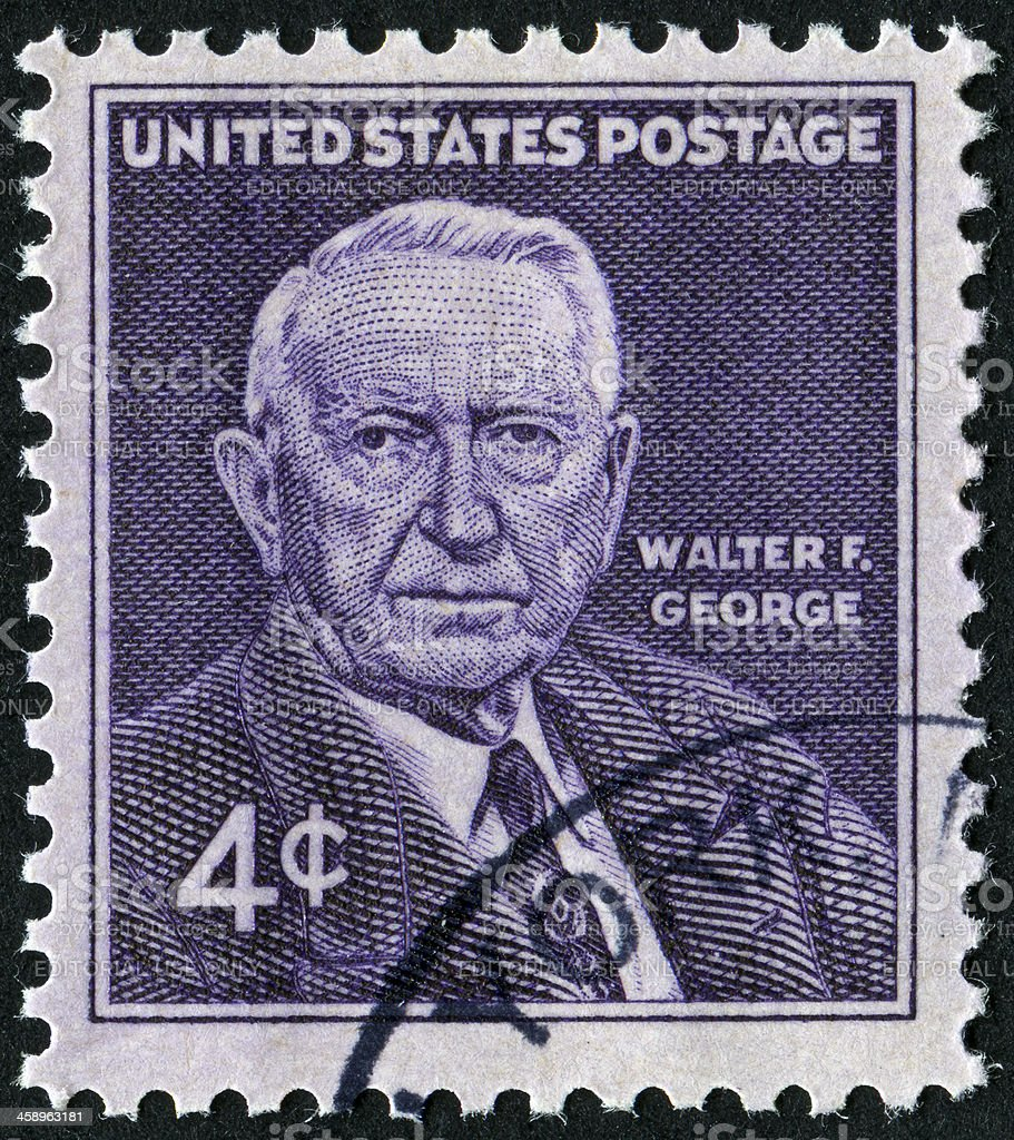 Walter F. George Stamp royalty-free stock photo