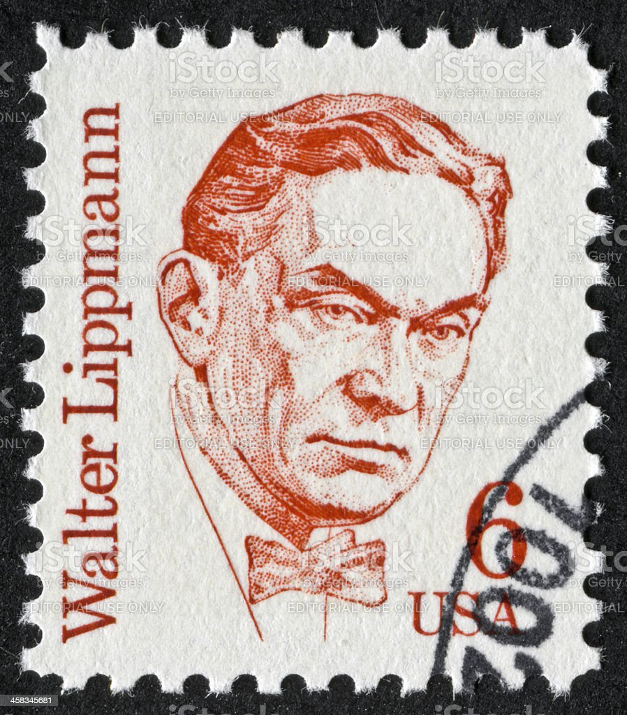 Walter Lippmann Stamp royalty-free stock photo