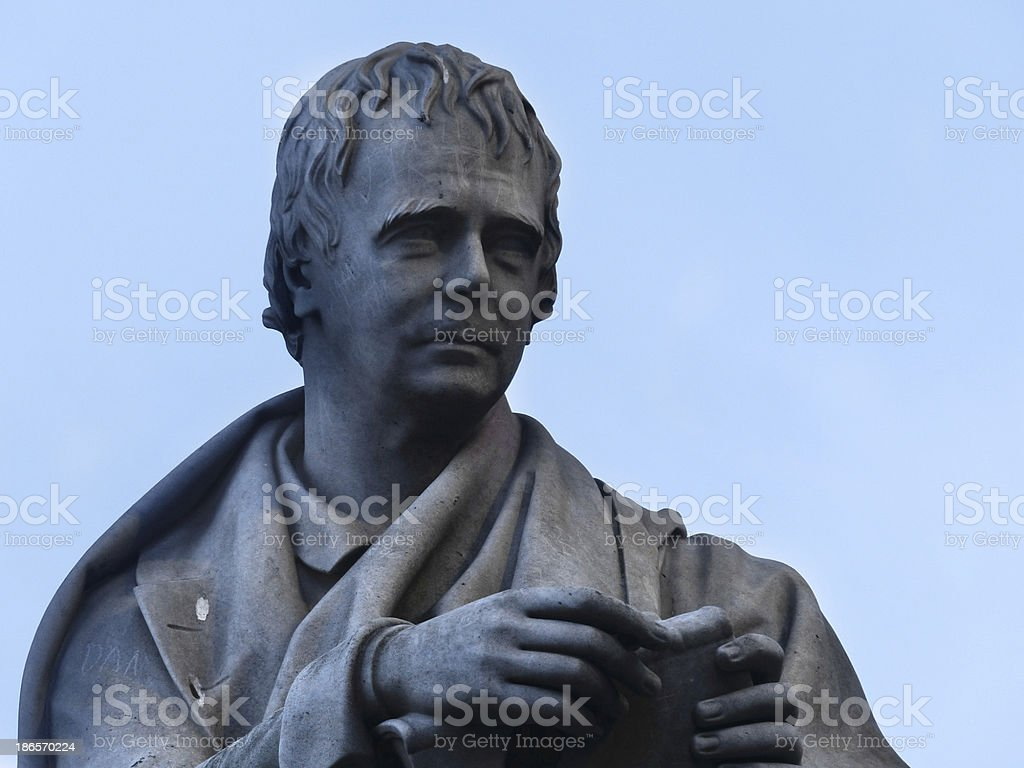 Walter Scott in Edinburgh stock photo