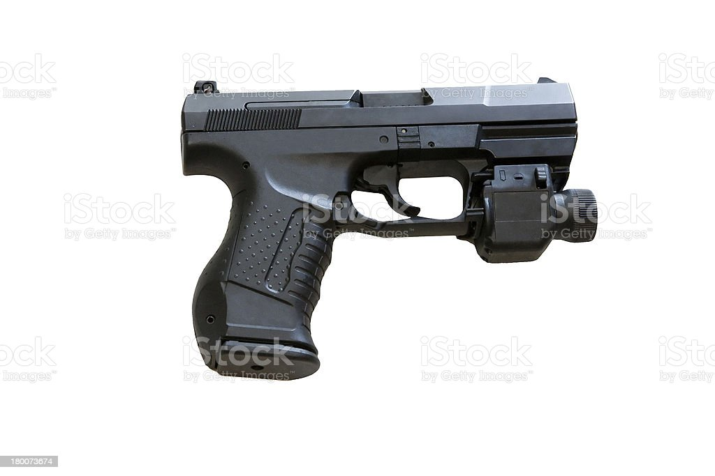 Walther P99 is a semi-automatic pistol developed by the Germ royalty-free stock photo