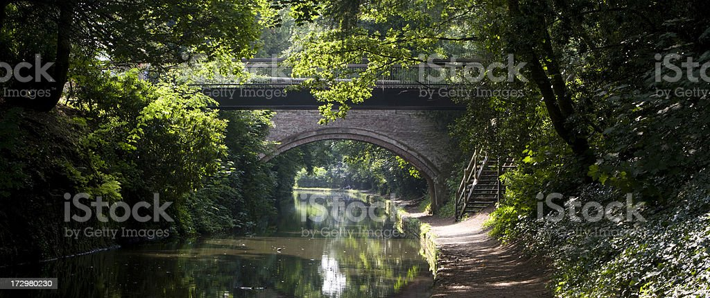 Walton Bridge, Bridgewater Canal, England royalty-free stock photo