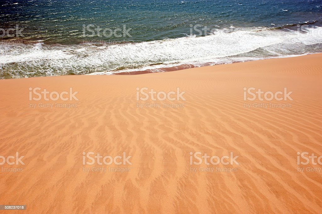 Walvis Bay coastline, Namibia stock photo