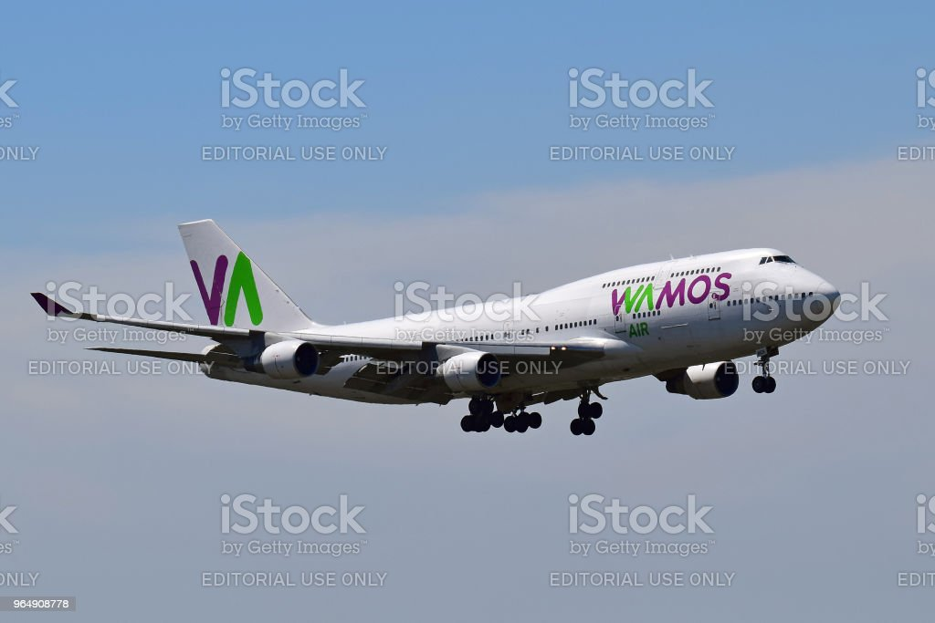 Wamos Air Boeing 747 royalty-free stock photo