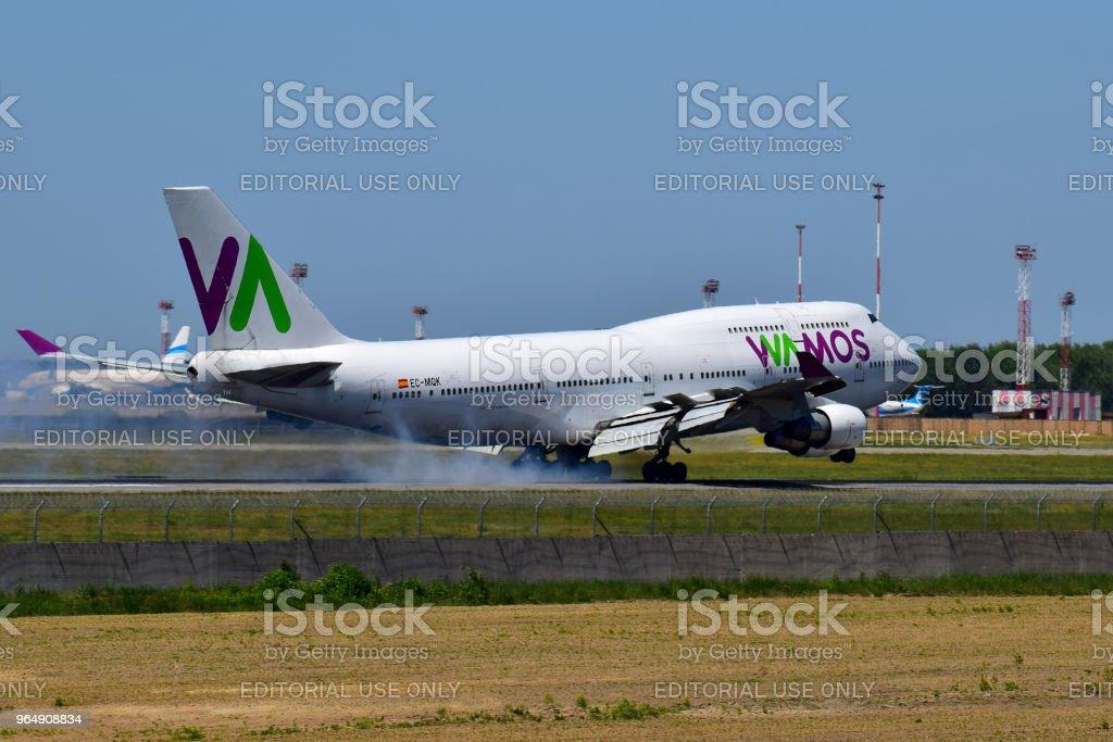 Wamos Air Boeing 747 royalty-free stock photo