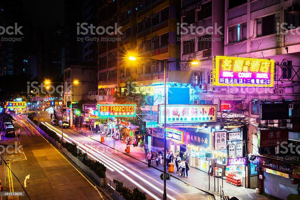 Wan Chai Night Life In Hong Kong China Royalty Free Stock Photo