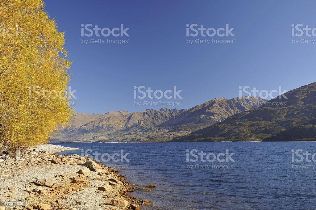Wanaka Lake, New Zealand royalty-free stock photo
