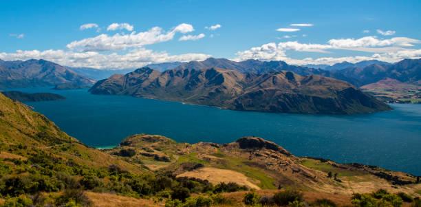 Wanaka Lake, Wanaka, New Zealand stock photo