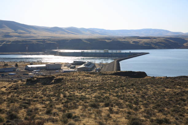 wanapum dam, wa - native american reservation stock photos and pictures