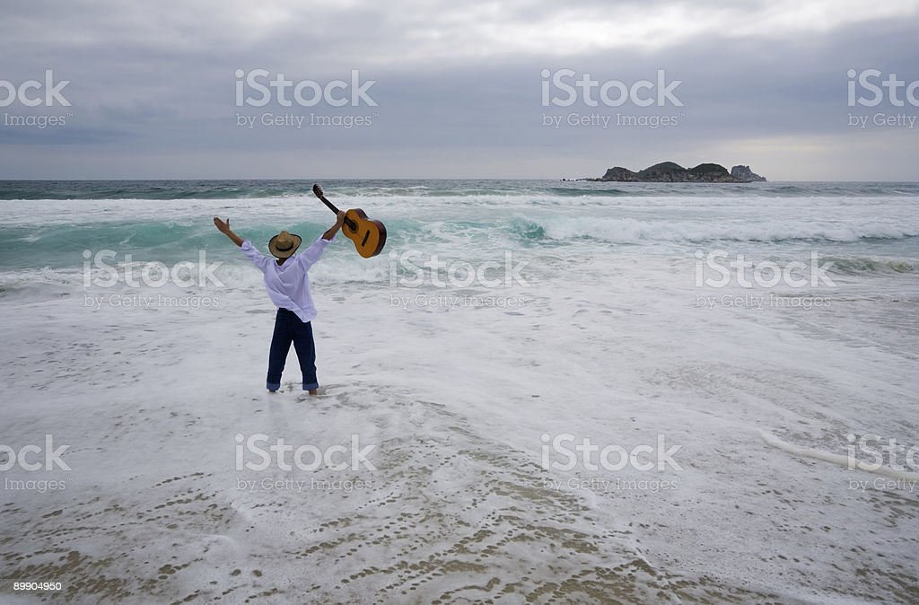 wandering musician royalty-free stock photo