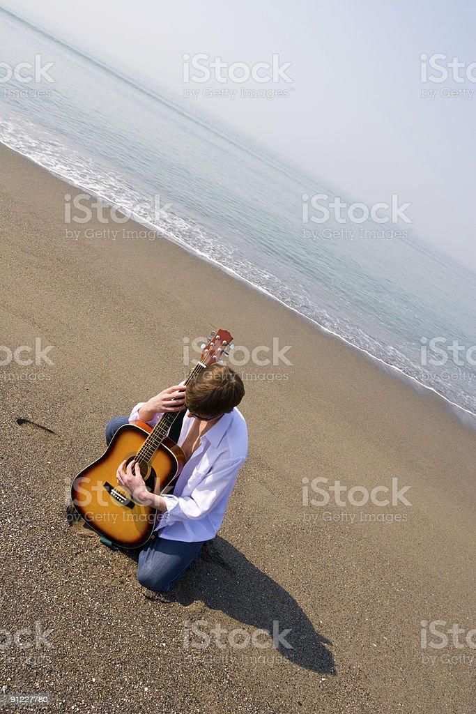 wandering musician royalty-free stock photo