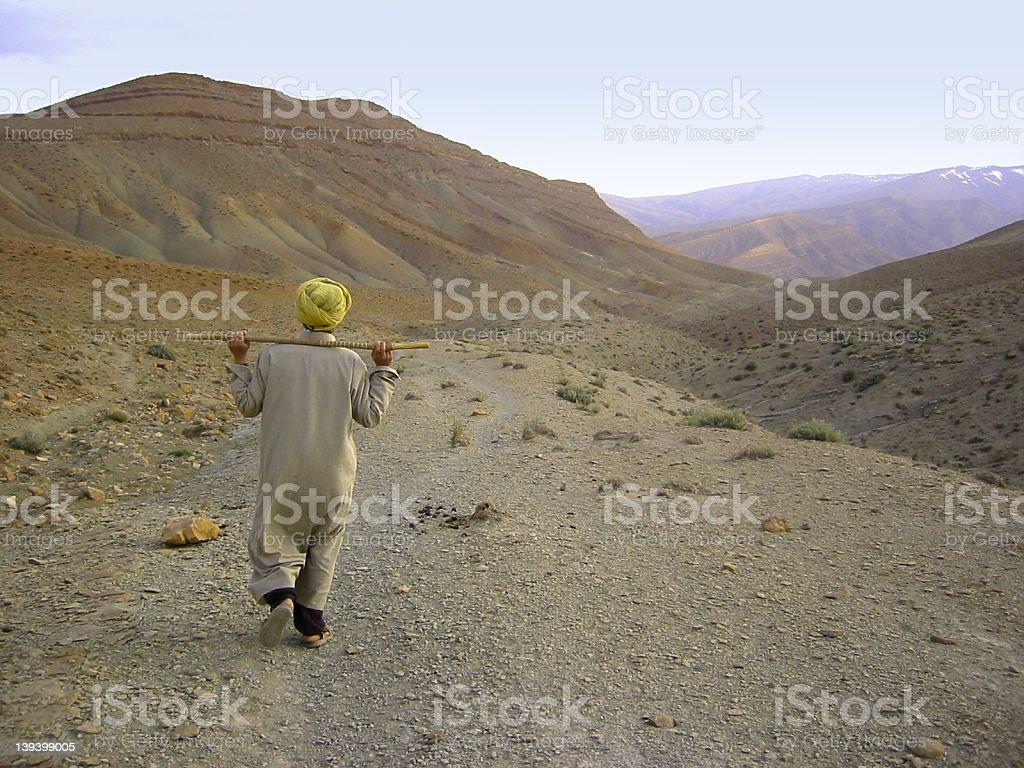 Wandering muslim royalty-free stock photo