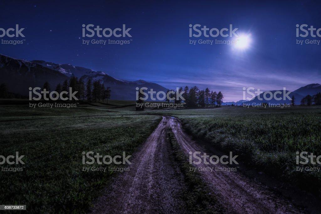 Wanderweg stock photo